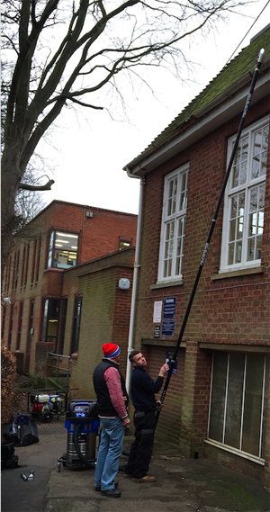 The Hitchin Girls' School utilised a SpaceVac to clean their hard to reach gutters