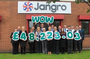 Cleaning product supplier Jangro is now more than halfway towards its target of raising £100,000 for cancer support charity Macmillan.