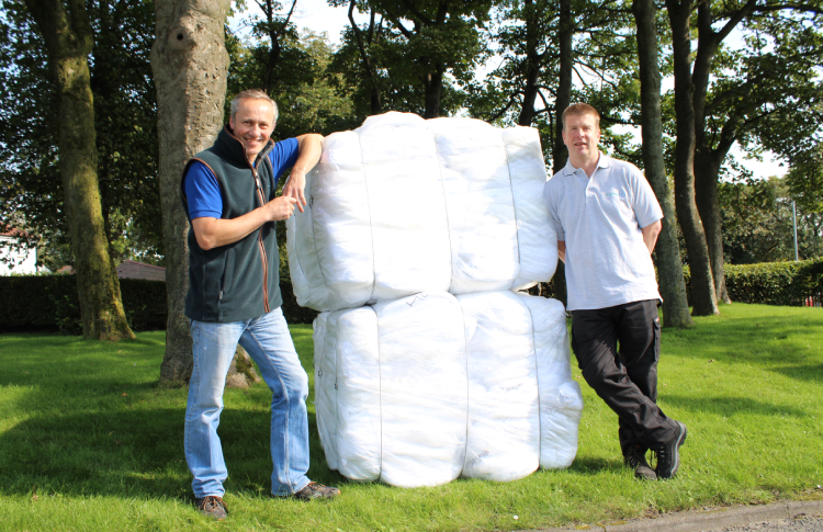 Regenex and Celtic Linen hit 100 tonnes of textiles successfully processed