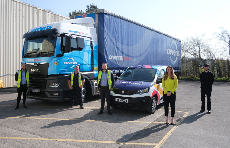 Owens Transport is client win number 35 in 12 months for Mrs Buckét