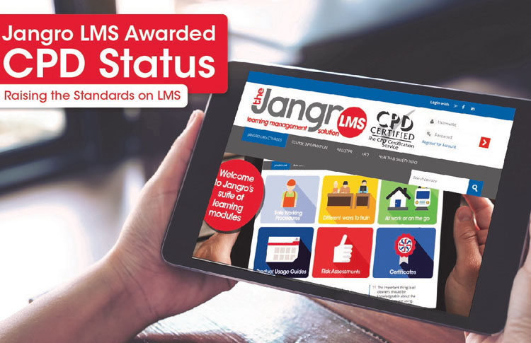 Jangro LMS receives accreditation by the CPD Certification Service