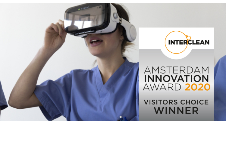 Tork VR training app wins Interclean Visitor's Choice Award